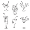 Vektor Cliparts: Cocktails