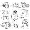 Vector clipart: Money Sketch Set