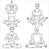 Vector clipart: Yoga