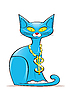 Vector clipart: Blue Cat