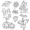 Vector clipart: Halloween Sketch Set