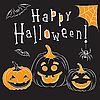 Векторный клипарт: Хеллоуин и тыквы