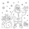 Vector clipart: Santa Claus with gifts