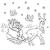 Vector clipart: Reindeer Rudolf with sledges