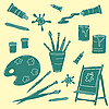 Artist`s Tools | Stock Vector Graphics