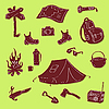 Camping Set | Stock Vector Graphics