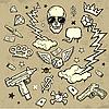 Векторный клипарт: гангстерский набор