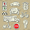 Vector clipart: City Traffic Set