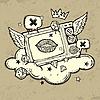 Vector clipart: Grunge TV Design