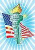 Vector clipart: Hand of Liberty