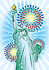 Vector clipart: Statue of Liberty