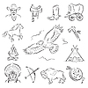 Vector clipart: Western Icons Set