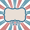 Vector clipart: Figure Frame USA colors