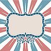 Amerikanischer Rahmen mit Streifen und Sternen