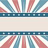 Векторный клипарт: Американская рамка с полосами и звездами