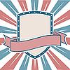 USA colors Shield