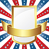 Vector clipart: American frame with stripes and stars