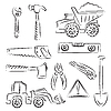 Vector clipart: Construction set