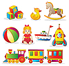Baby Toys Set | Stock Vector Graphics