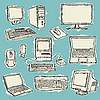 Vector clipart: Computers Set