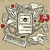 Grunge Design with Computer