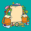 Vector clipart: Beer party frame
