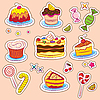 Vector clipart: Holiday Sweets stickers