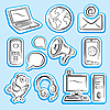 Vector clipart: Internet and communication