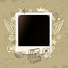Vector clipart: Grunge photo frame