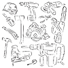 Vector clipart: tools and constructions