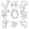 Vector clipart: Circus Animals