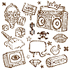 Vector clipart: Set of Retro Objects