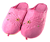 Pink femaile house slippers  | Stock Foto
