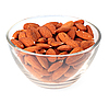 Almonds in glass plate  | Stock Foto