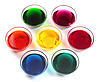 Glass bowls with dyes | Stock Foto