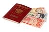 온두라스의 돈 러시아 여권 | Stock Foto