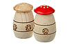 Wooden saltcellars-pepperboxes | Stock Foto