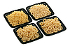 Pasta in four bowls | Stock Foto