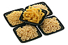 Pasta in five bowls | Stock Foto