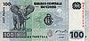 Photo 300 DPI: 100 Franks bill of Congo