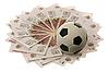 Photo 300 DPI: Soccer ball and russian money
