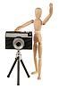 Dummy and camera | Stock Foto