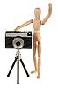Dummy i aparat | Stock Foto