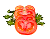 Tomatoes and parsley | Stock Foto
