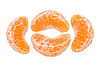 ID 3067346 | Slices of tangerine | High resolution stock photo | CLIPARTO