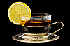Cup of tea with lemon   Stock Foto