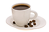 ID 3067940 | Puchar z kawy i ziarna kawy | Foto stockowe wysokiej rozdzielczości | KLIPARTO