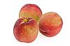 Three peaches   Stock Foto