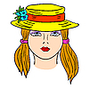 Vector clipart: Woman's face