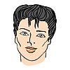 Векторный клипарт: мужское лицо